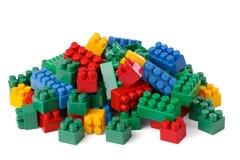 Blocchetti di plastica del giocattolo Immagine Stock Libera da Diritti