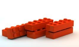 Blocchetti di plastica del giocattolo illustrazione di stock