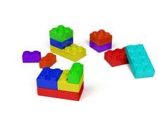 blocchetti di plastica del giocattolo 3d Fotografia Stock