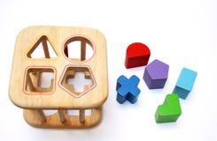 Blocchetti di puzzle del bambino Fotografia Stock Libera da Diritti