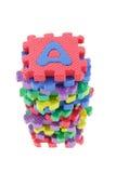 Blocchetti di puzzle di alfabeto Immagini Stock