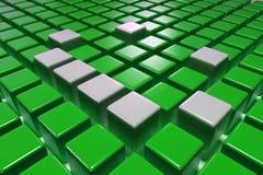 blocchetti di verde 3D Fotografia Stock Libera da Diritti