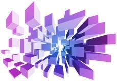 blocchetti di volo 3D Immagine Stock