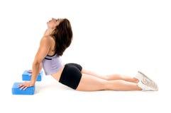 Blocchetti di yoga fotografia stock libera da diritti