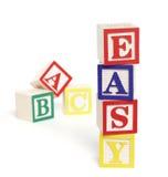 Blocchetti facili di ABC Immagine Stock