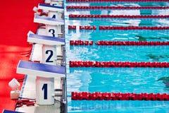 Blocchetti iniziare della piscina Fotografie Stock Libere da Diritti