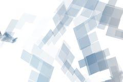 Blocchetti meccanici blu di tecnologia illustrazione di stock