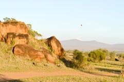 Blocchetti rossi della roccia Fotografia Stock Libera da Diritti