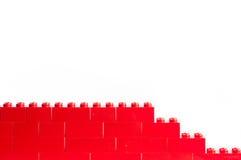Blocchetti rossi di Lego con lo spazio della copia Fotografie Stock Libere da Diritti