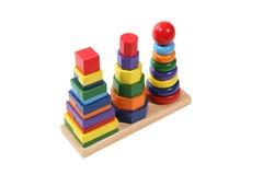 Blocchetti variopinti del giocattolo Immagini Stock