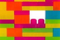 Blocchetti variopinti del puzzle, giocattolo dei bambini fotografia stock libera da diritti