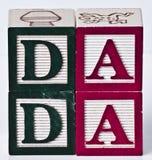 Blocchetto Dada dei bambini Fotografia Stock