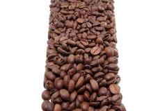 Blocchetto dei chicchi di caffè Fotografia Stock