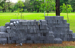 Blocchetto dei mattoni del blocco per uso della costruzione Fotografia Stock Libera da Diritti