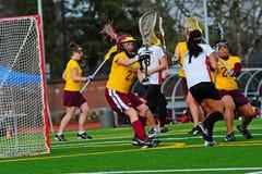 Blocchetto del portiere di Lacrosse Fotografia Stock Libera da Diritti
