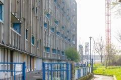Blocchetto dell'alloggio della casa popolare a Londra orientale Fotografia Stock