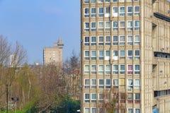 Blocchetto dell'edilizia economica e popolare a Londra orientale Fotografie Stock