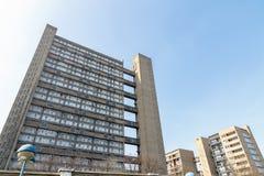 Blocchetto dell'edilizia economica e popolare a Londra orientale Immagini Stock