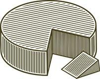 Blocchetto dell'intaglio in legno di formaggio Fotografie Stock