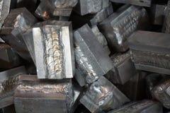 Blocchetto di alluminio della saldatura Fotografie Stock