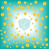 Blocchetto di Bitcoin trovato illustrazione di stock
