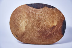 Blocchetto di spezzettamento di legno su fondo bianco Immagine Stock Libera da Diritti
