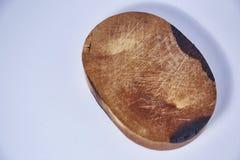 Blocchetto di spezzettamento di legno su fondo bianco Fotografie Stock Libere da Diritti