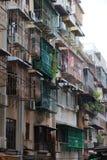 Blocchetto di vecchio stile degli appartamenti a Macau. La Cina. Fotografia Stock Libera da Diritti