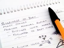 Blocchetto per appunti allineato abbozzo di affari del lavoro di Doodle Immagini Stock