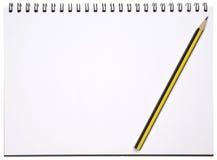 Blocchetto per appunti in bianco Fotografia Stock