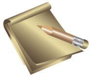 Blocchetto per appunti e matita. Immagine Stock