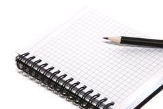 Blocchetto per appunti e matita Fotografia Stock