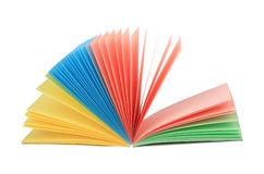 Blocchetto per appunti multicolore aperto fan-like astratto Immagine Stock Libera da Diritti