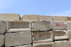 Blocchi in calcestruzzo Fotografie Stock Libere da Diritti