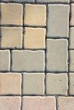 Blocchi in calcestruzzo, blocchi stradali, pianterreno Immagine Stock Libera da Diritti
