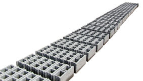 Blocchi in calcestruzzo - Gray - prospettiva Fotografie Stock