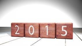 2014 blocchi che cambiano a 2015 illustrazione vettoriale