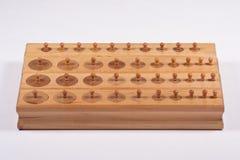 Blocchi cilindri di Montessori Fotografia Stock