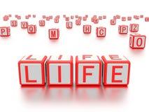 Blocchi con la vita di parola scritta su  Immagini Stock