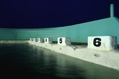 Blocchi d'immersione all'alba Fotografie Stock Libere da Diritti