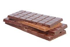 Blocchi di cioccolato Fotografia Stock
