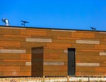 Blocchi di costruzione di legno su una via Fotografia Stock