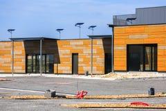 Blocchi di costruzione di legno su una via Fotografia Stock Libera da Diritti