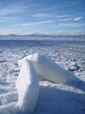 Blocchi di ghiaccio Fotografia Stock