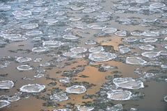 Blocchi di ghiaccio in fiume immagine stock libera da diritti