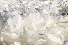 Blocchi di ghiaccio sul lago Superiore congelato, Minnesota fotografia stock libera da diritti