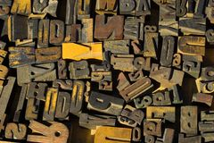 Blocchi di legno Fotografia Stock