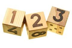 Blocchi di legno con le cifre Immagine Stock Libera da Diritti