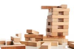 Blocchi di legno isolati su bianco Fotografie Stock Libere da Diritti