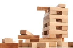 Blocchi di legno isolati su bianco Immagini Stock Libere da Diritti